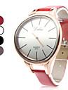 Unisex Simples elegante estilo PU analógico relógio de pulso de quartzo (cores sortidas)