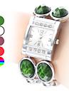 Женские Модные часы Кварцевый Группа Черный Белый Красный Зеленый Фиолетовый Разноцветный