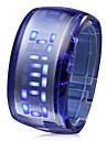 Светодиодные голубые футуристические часы-браслет