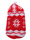 Lovely Snowflake Pattern Sweater with Cap for Dogs Cats (Red,XS-XL)