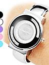 Liga das mulheres analógico pulseira relógio de quartzo (prata)