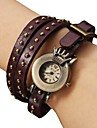 Orologio-bracciale analogico, al quarzo, da donna, in PU - Viola