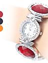 여성의 플라스틱 아날로그 석영 팔찌 시계 (분류 된 색깔)