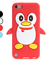 3D Style Cartoon Penguin Pattern Soft Case for iTouch 5 (Assorted Colors)
