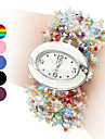 Women's Colorful Style Plastic Analog Quartz Bracelet Watch (Assorted Colors)