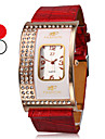 Women's Diamond Square Case PU Band Quartz Wrist Watch (Assorted Colors)