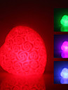 Rose Heart Shaped colorido luz da lâmpada LED Night (3xLR44)