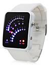 Montre 29 LED Bleues et Rouges, Bracelet Coloré