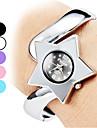 Женщины Звезды Стиль сплава аналогового кварцевые часы браслет (серебро)