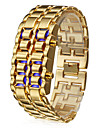 Hommes Suivre Numérique Montre Tendance LED / Calendrier Acier Inoxydable Bande Bracelet Montre