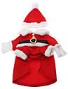 Коты / Собаки Костюмы / Плащи / Инвентарь Красный Одежда для собак Зима Косплей / Рождество / Новый год / Хэллоуин