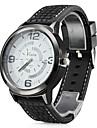 Men's Dress Watch Quartz Silicone Band Black