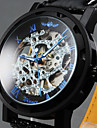 WINNER® Men's Hollow Skeleton Manual Mechanical Leather Band Wrist Watch Cool Watch Unique Watch