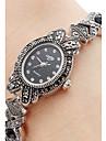 아가씨들 패션 시계 팔찌 시계 일본어 석영 합금 밴드 블랙