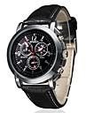 Masculino Relógio de Pulso Quartzo PU Banda Preta Marrom Branco Preto