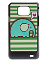 Flash Design Pattern Caso bonito do elefante dura para Samsung I9100 Galaxy S2