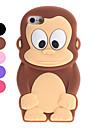 Case Suave 3D para iPhone 5 - Macaco Cartoon (Várias Cores)