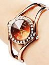 Mulheres Relógio de Moda Bracele Relógio Quartzo Lega Banda Brilhante Bracelete Elegantes Bronze