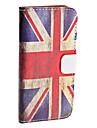Retro Ison Britannian lippu PU-nahkakuori iPhone 5:lle