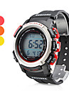 Men's Multi-Functional Style Rubber Automatic Digital Wrist Watch (Black)