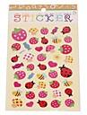 다채로운 딸기 시리즈 스테레오 버블 스티커