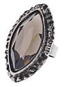 z&x® bague en cristal de zircon Gravure marquis de style vintage