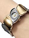 여성의 강철 아날로그 석영 팔찌 시계 (멀티 컬러)