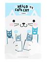 Gato bonito inoxidável Marcadores de aço (4-Pack)