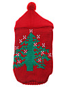 Cat / Dog Sweater / Hoodie Red Dog Clothes Winter Christmas