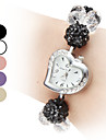 Women's Adjustable Band Style Plastic Analog Quartz Bracelet Watch (Assorted Colors)