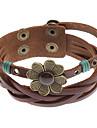 Z&x® крест четырехлистник заклепки кожаный браслет