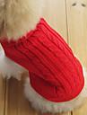 Классический европейский стиль свитер для собаки кошки (Красный, XS-M)