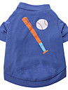 Base Ball Pattern T-Shirt for Dogs (Assorted Color,XS-L)