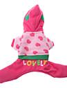 Собаки Толстовки Розовый Одежда для собак Зима Вышивка
