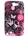 Butterfly and Chrysanthemum Pattern Soft Case for Samsung Galaxy Note 2 N7100
