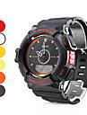 Homme multi-fonctionnelle en caoutchouc style analogique-numérique montre-bracelet automatique (couleurs assorties)