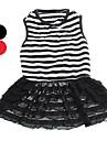 개 드레스 레드 / 블랙 / 화이트 여름 Randig