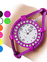 Women's Diamante Case Rope Alloy Quartz Analog Bracelet Watch (Assorted Colors)
