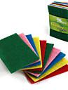 10шт набор красочные чистящие салфетки ткани ткани тряпки чистки салфетки сильные обеззараживания полотенца