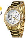 Men's Watch Dress Watch Diamond Case Gold Steel Band