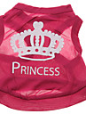 Polyester Princess Crown Pattern Vest for Dogs (Rose,XS-L)