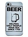 Caso cerveja padrão rígido para iPhone 4/4S