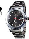 Hommes Alloy Style Calendrier Montre analogique bracelet à quartz (Argent)