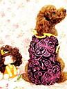 прекрасный цветочно-ситцевое платье для собак (случайный цвет кружева, S-XXL)