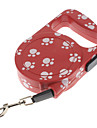 Dog Leash Red / Pink Genuine Leather
