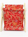 Moldura de madeira flor padrão saco de armazenamento Têxtil