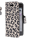 Leopard Print PU Leather Case with Stand for iPhone 5/5S