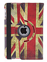 Rotatable Retro Design Pattern Bandeira do Reino Unido Capa de Couro PU com suporte para mini iPad