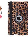 pyörivä leopardi pu nahka tapauksessa w / jalusta iPad mini 3, iPad Mini 2, iPad Mini