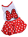Spot Pattern Bowknot Style Dresses for Dogs (S-XXL)